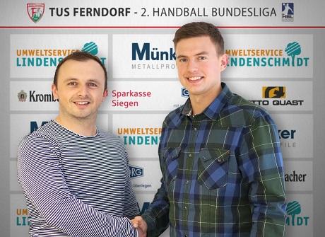 Marius Kastening (re.) schließt sicht dem TuS Ferndorf an. Foto: Verein