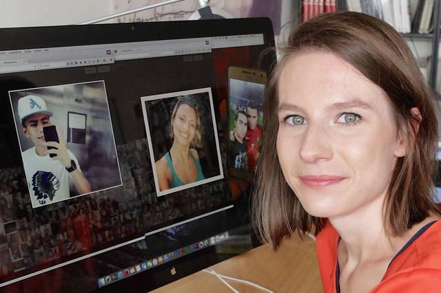 """In ihrer Doktorarbeit an der Uni Siegen untersucht Lydia Korte """"Selfies"""" und die Frage, warum Menschen sich selbst fotografieren. (Foto: Uni)"""