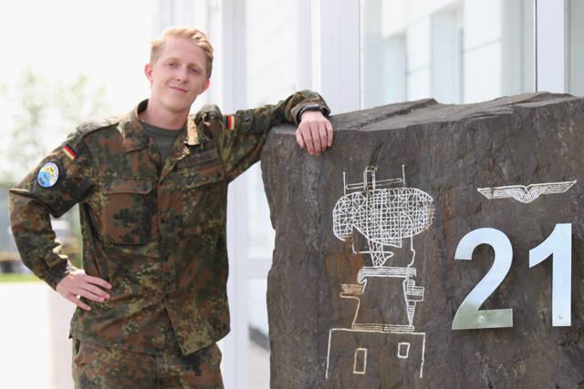 Oberleutnant Andre Landwehr gehört der Einsatzführungsstaffel 21 des Einsatzführungsbereich 2 an. (Foto: Daniel Heinen)