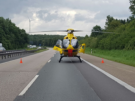 ADAC-Helicopter-Unfall-Autobahn