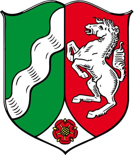 Bezirksrgierung Arnsberg und NRW Wappen
