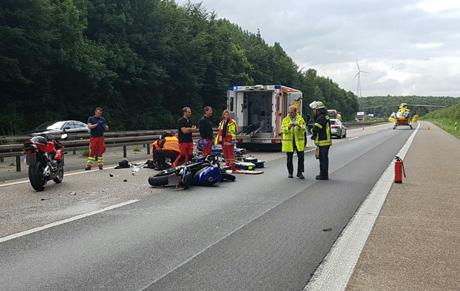 Unfall-Autobahn