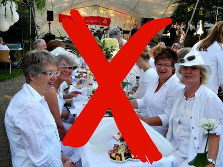 """Erneute Absage des """"Dinner in Weiß"""" in Hilchenbach. (Foto: Stadt)"""
