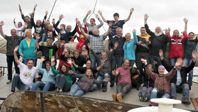 Familienzentrum Feldwasser auf Segeltour im Ijssel und Wattenmeer. (Foto: privat)