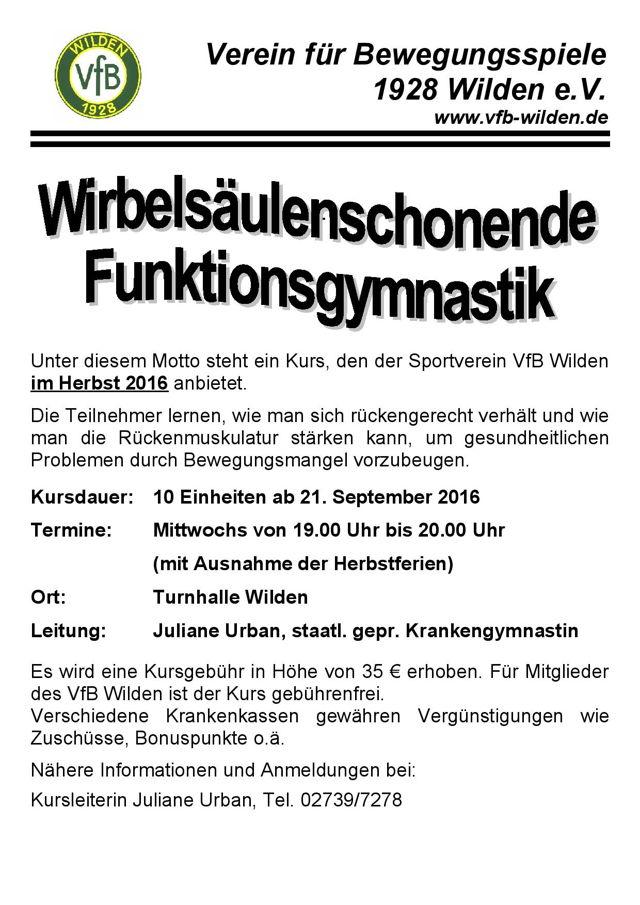 Plakat: VfB Wilden